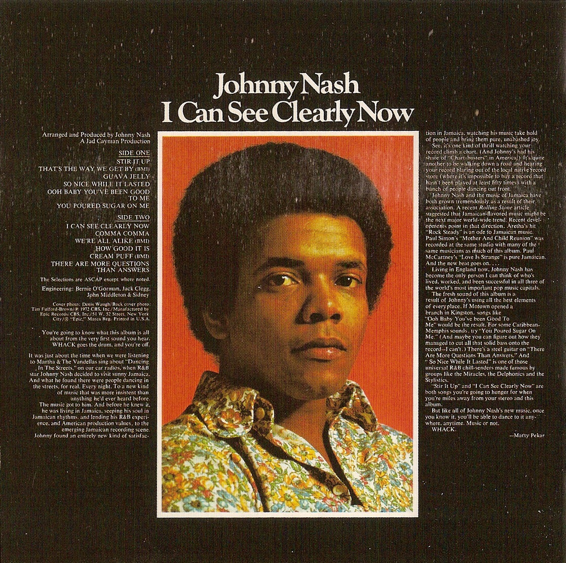 Johnny Nash I Can See Clearly Now 1972 2011 Remastered Expanded Reissue Big Break Records Cdbbr 0064 Avaxhome
