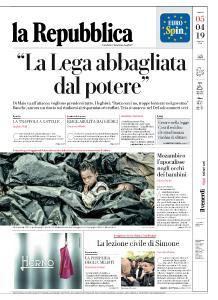 la Repubblica - 5 Aprile 2019