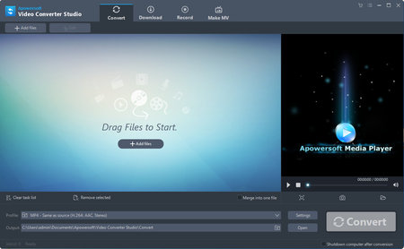 Apowersoft Video Converter Studio 4.8.3 (Build 09/09/2019) Multilingual