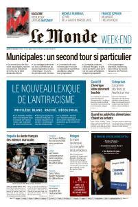 Le Monde du Samedi 27 Juin 2020