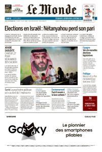 Le Monde du Jeudi 19 Septembre 2019