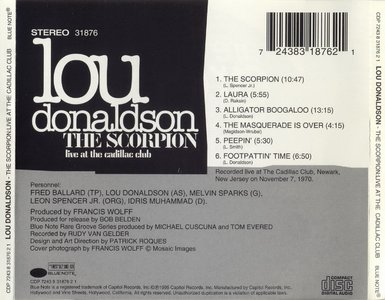 Lou Donaldson - The Scorpion (1970) {Blue Note Rare Groove Series 1995}
