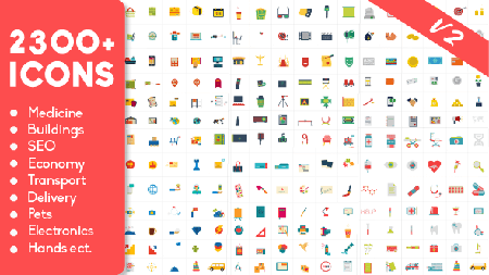 2300 Animated Icons Pack - Project for After Effects (VideoHive) 18383303