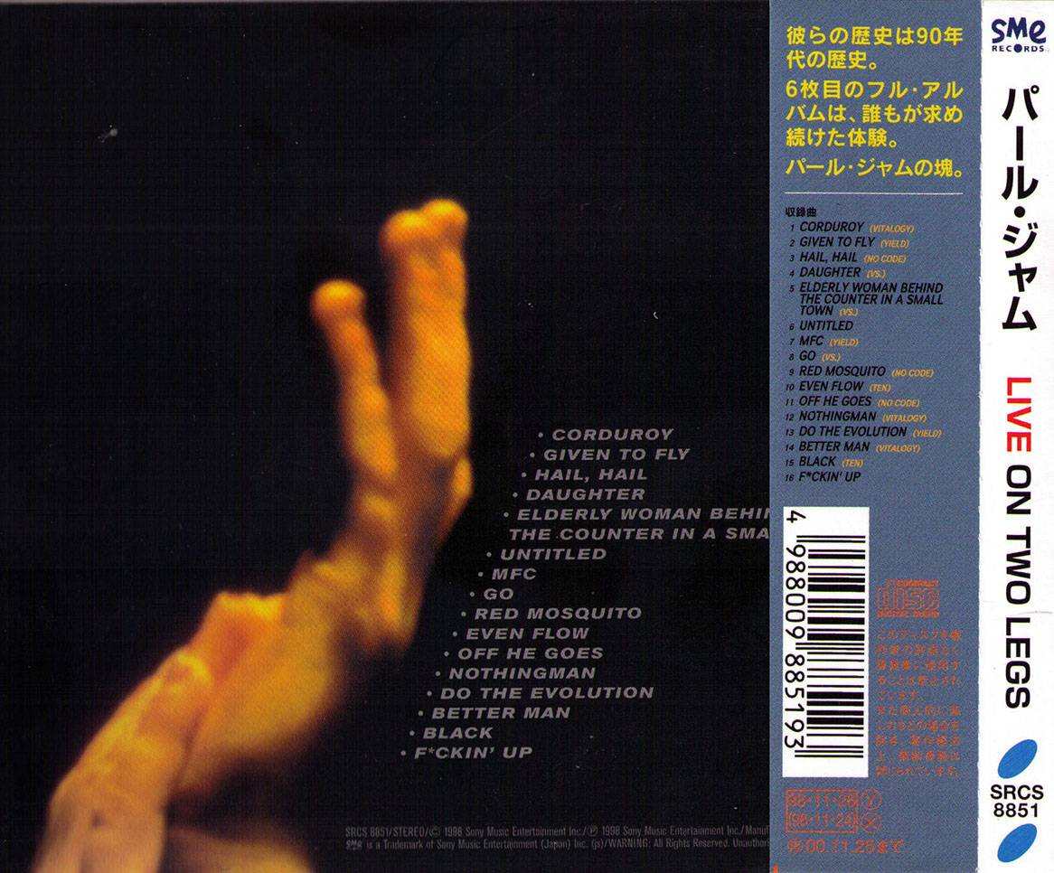 Pearl Jam Live On Two Legs 1998 Japanese Press Avaxhome