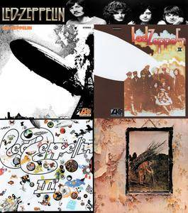Led Zeppelin - I, II, III, IV (2008) [Dr. Ebbetts US Stereo Vinyl 1st Press] 4CD