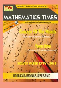 Mathematics Times - September 2019