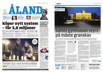 Ålandstidningen – 25 november 2017