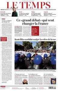 Le Temps - 04 mars 2019