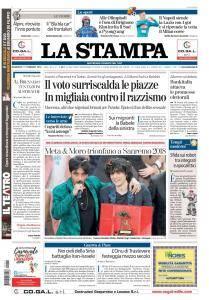 La Stampa Torino Provincia e Canavese - 11 Febbraio 2018