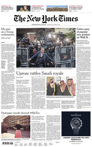 International New York Times - 22 October 2018