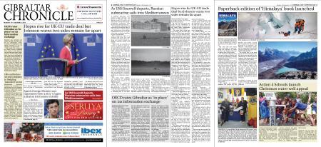 Gibraltar Chronicle – 14 December 2020