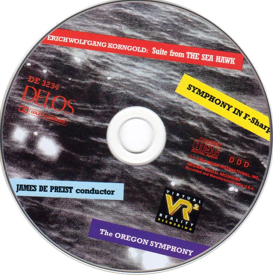 The Oregon Symphony, James DePreist - Erich Wolfgang Korngold: The Sea Hawk; Symphony in F sharp major, Op. 40 (1998)
