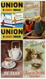 Advertising of cocoa, chocolate and sweets (vintage, retro)