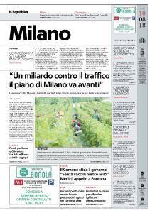 la Repubblica Milano - 10 Agosto 2018