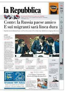 la Repubblica - 6 Giugno 2018