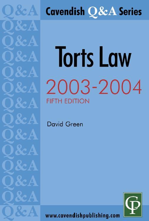 Q & A Series: Torts Law 2003-2004