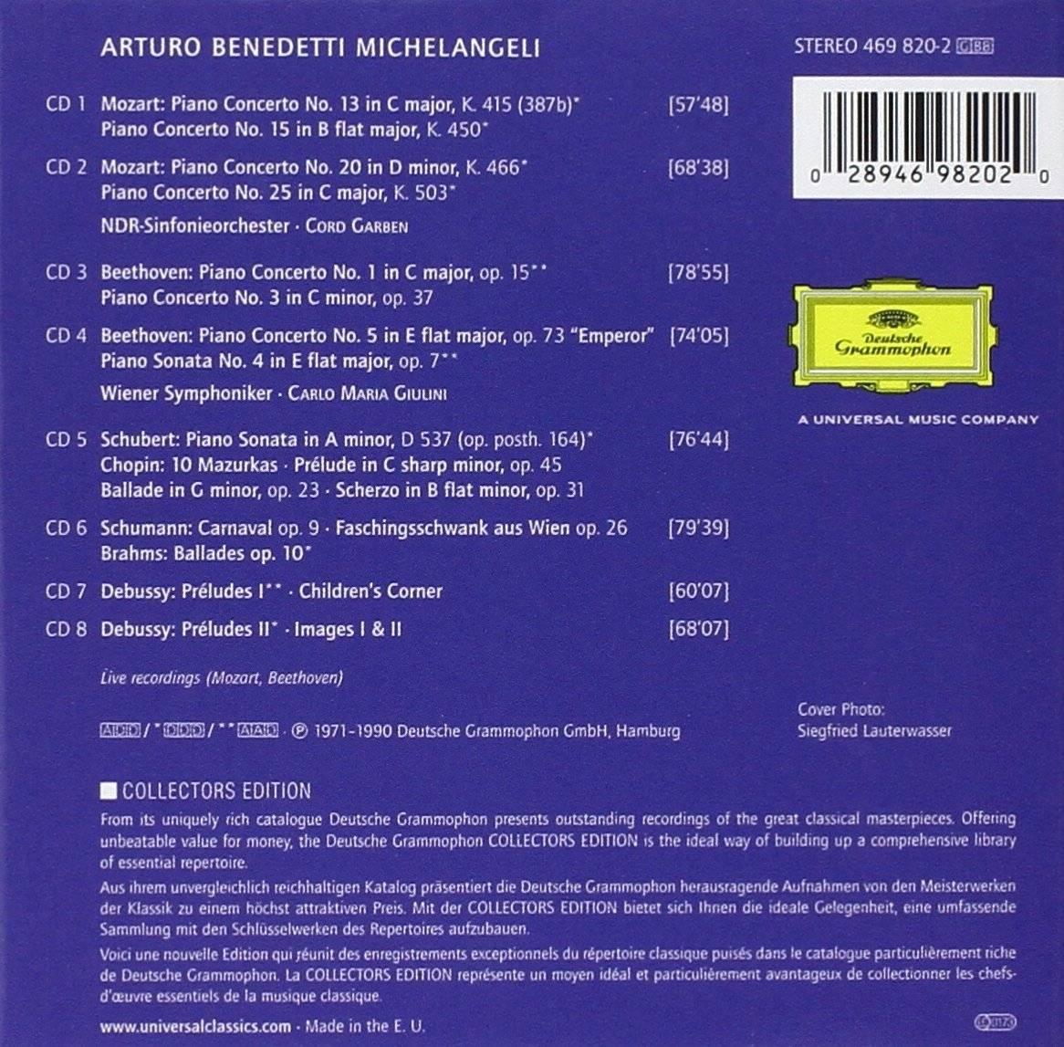 Arturo Benedetti Michelangeli - The Art Of Arturo Benedetti Michelangeli (DG Collectors Edition) (2003)