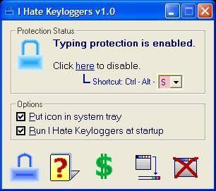 I Hate Keyloggers version 1.0