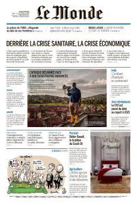 Le Monde du Jeudi 26 Mars 2020