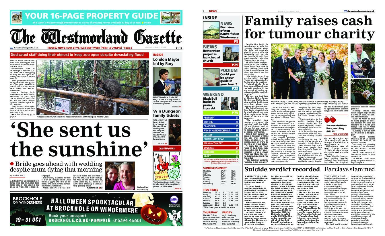The Westmorland Gazette – October 10, 2019