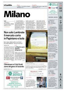 la Repubblica Milano - 23 Agosto 2018