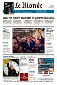 Le Monde du Vendredi 24 Janvier 2020
