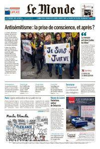 Le Monde du Vendredi 30 Mars 2018
