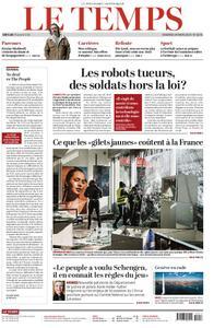 Le Temps - 29 mars 2019