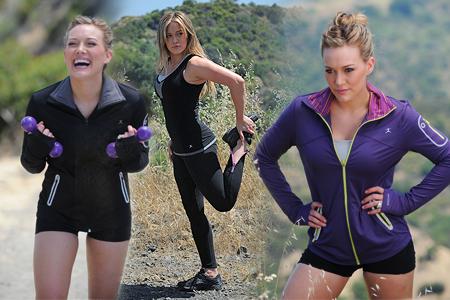 Hilary Duff - Danskin Sportsbra Photoshoot