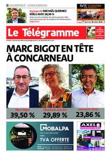 Le Télégramme Concarneau – 16 mars 2020
