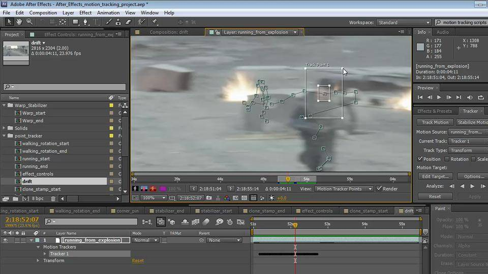 After Effects CS5 5: Motion Tracking and Stabilization