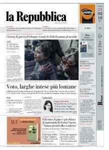 la Repubblica - 21 Febbraio 2018