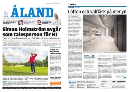 Ålandstidningen – 13 september 2019