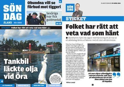Ålandstidningen – 29 april 2018