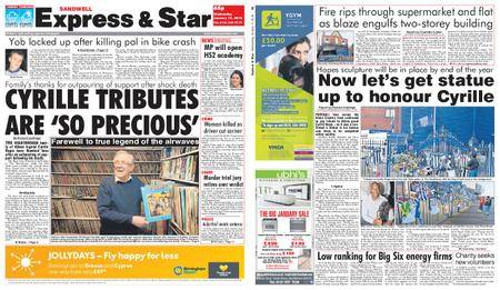 Express and Star Sandwell Edition – January 17, 2018
