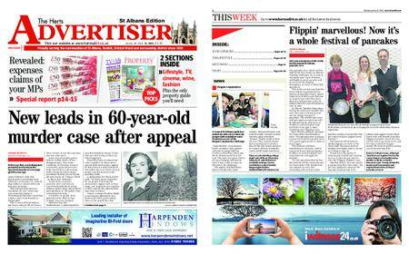 The Herts Advertiser – January 18, 2018