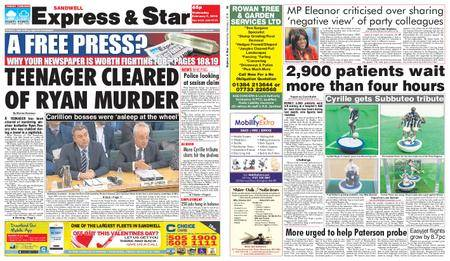 Express and Star Sandwell Edition – February 07, 2018