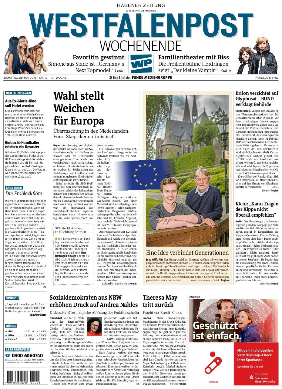 Westfalenpost – 25. Mai 2019