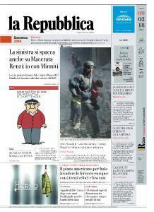 la Repubblica - 9 Febbraio 2018