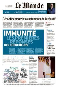 Le Monde du Vendredi 24 Avril 2020
