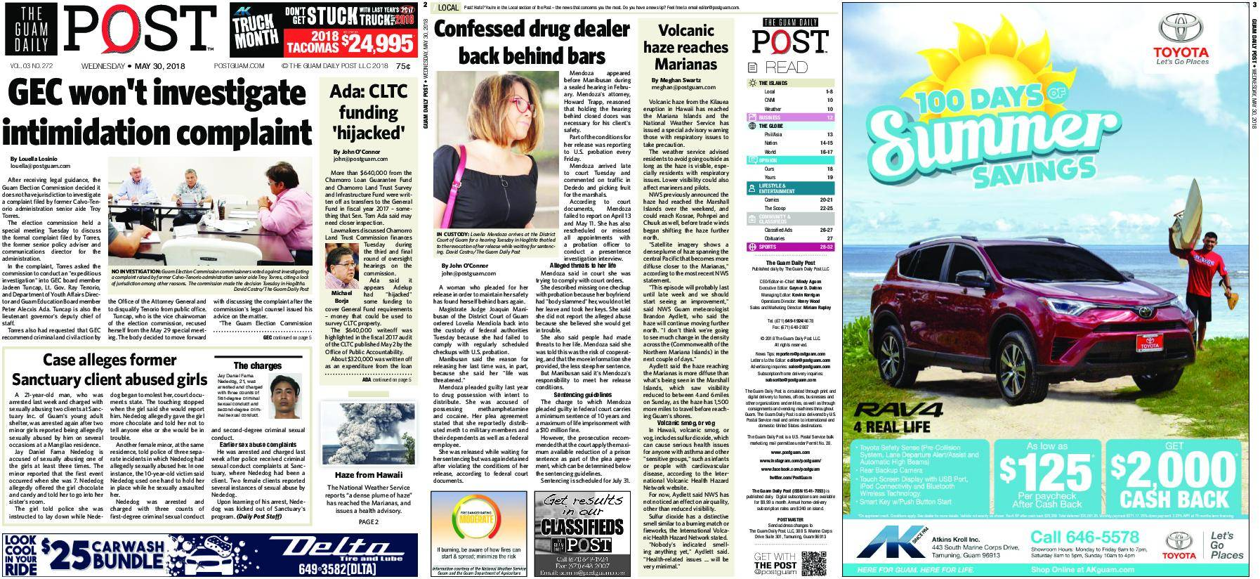 The Guam Daily Post – May 30, 2018