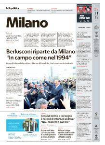 la Repubblica Milano - 27 Novembre 2017