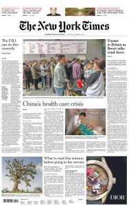 International New York Times - 2 October 2018