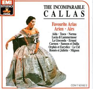 Maria Callas - The Incomparable Callas: Favourite Arias (1987) (Repost)