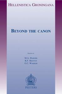 Beyond the Canon (Hellenistica Groningana)