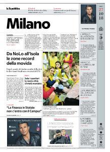 la Repubblica Milano - 27 Ottobre 2018