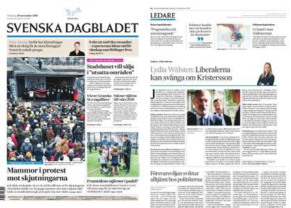 Svenska Dagbladet – 19 november 2018