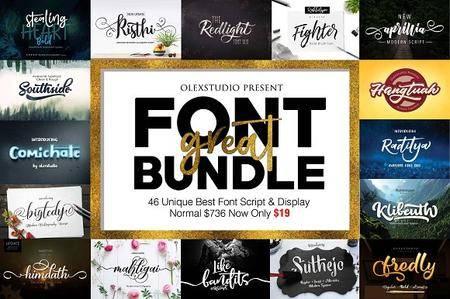 CreativeMarket - Great FONT BUNDLE