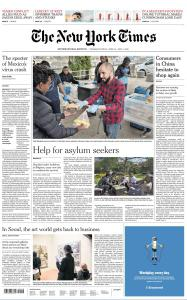 International New York Times - 30 April - 1 May 2020