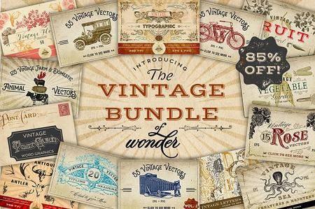 CreativeMarket - Vintage Bundle of Wonder